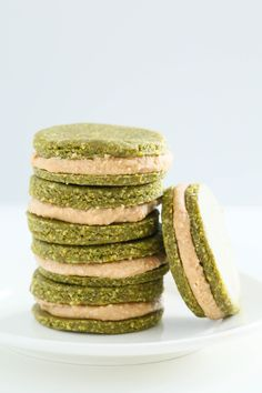 No-Bake Pistachio Cookies Recipe {Gluten-Free} - Whip up a batch of these delicious treats in just 20 minutes! Their naturally green color makes them a perfect St. Patrick's Day dessert.