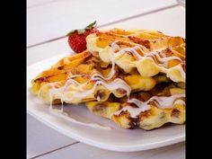 Cinnamon Roll Waffles with Cream Cheese Glaze recipe from Pillsbury.com