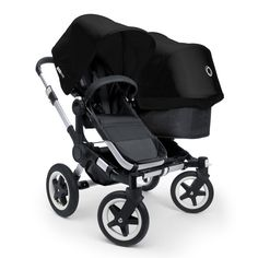 Bugaboo Donkey Double Stroller 2011 with Black Base and Black Canopy by Bugaboo at Hip Baby Gear