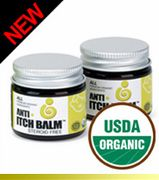 NEW & Truly wonderful! Anti-Itch & Rash Balm USDA Certified Organic from U.S. Organics. - On Sale $18.59 and Free Shipping - Check out the rave review from Cool Mom Picks....  http://www.enviroproductsworld.com/anti-itch.html