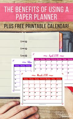 Pin- Smartphone apps and desktop programs that are used to track your life, They can be found within seconds by a few quick strokes on a keyboard or a couple swipes on a smartphone screen but nothing can replace the benefits of using a paper planner! Free Printable Calendar, Free Printables, Planning And Organizing, Time Management Tips, Parenting Advice, Organization Hacks, Helpful Hints, Planners, Keyboard