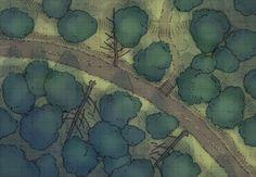 D&d Dense Forest Battle Map