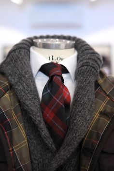 Nice warm combination of tartans and wool