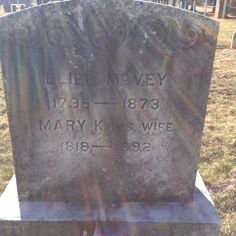 The headstone of one of my ancestors buried in the cemetery behind the Presbyterian Church.