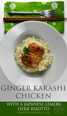 Sweet, tangy, savoury chicken bites - amazing with this lemon herb risotto, or on their own as a fantastic appetizer.  Check out both recipes on Diversivore.com