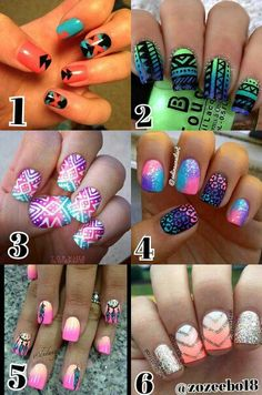 I am getting my nails done soon, which design should I get? Tag me in more nail pics that you like please! Vote below! _Zoe_