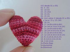 de Corazon Crochet Heart - Hope I can figure it out!Crochet Heart - Hope I can figure it out! Love Crochet, Learn To Crochet, Crochet Motif, Diy Crochet, Crochet Crafts, Crochet Dolls, Crochet Flowers, Crochet Stitches, Crochet Patterns