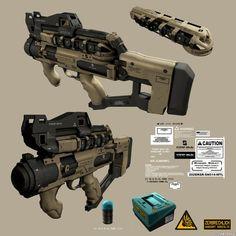 21358 - Deus Ex: Human Revolution: Weapon designs: