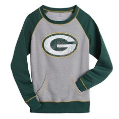 Packers Women s OT Queen Raglan Green Bay Packers Sweatshirt f7281e018