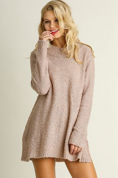 Soft Knit Mauve Sweater