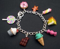 Kawaii Sweets and Desserts Charm Bracelet on by KooKeeJewellery, $15.50