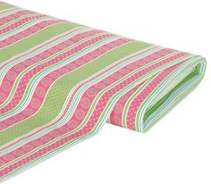 """Baumwollstoff """"Streifen & Kreise"""", pink/grün € 5,99"""