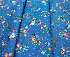 Robert Kaufman Hidden Canyon WEL-19806-82 Floral Blue Robert Kaufman, Floral Tie, Alexander Mcqueen Scarf, Blue