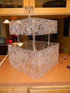 My DIY crystal cake stand...yippee! :  wedding Cake Stand 2