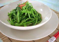 The Modern VEGETARIAN - Recipes: Stir-Fried Watercress with Vegetarian Oyster Sauce
