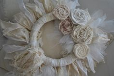 `Shabby chic wreath , for sale on ebay