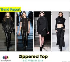 Zippered Top #Fashion Trend for Fall Winter 2014 #black #Fall2014 #Fall2014Trends #FashionTrends2014