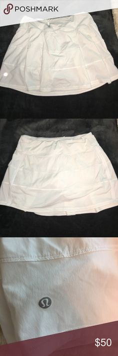 White Lululemon Athletica Tennis Skirt Just as good as new! Only worn once and will be ironed before sent, no stains or tears. lululemon athletica Skirts Mini