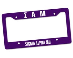 sam-frame Sigma Alpha Mu, Free Swag, Greek Gifts, Bid Day, License Plate Frames, Day Bag, Black Tote, Make Time, Letters