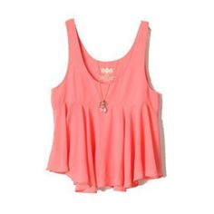 Pink Sleeveless Ruffles Chiffon Vest (30 CAD) ❤ liked on Polyvore featuring tops, shirts, sheinside, tank tops, pink shirts, red sleeveless shirt, pink tank, ruffle shirt and sleeveless shirts