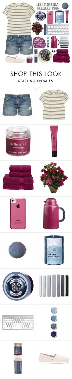 """""""✧;; being blue is better than being over it // rtd for me rambling"""" by kickitap ❤ liked on Polyvore featuring Current/Elliott, Monki, Sara Happ, Stila, Christy, Nearly Natural, Case-Mate, Bodum, Chesapeake Bay Candle and The Body Shop"""