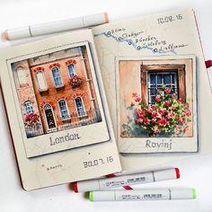 Marker. Sketchbook. Copic markers