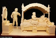 This sculpture is made of butter! - artist: Vipular Athukorale