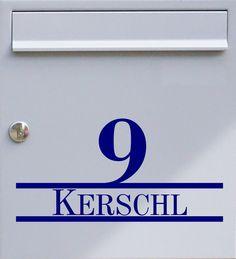 Hausnummer & Wunschtext 02 - Briefkastentattoo - Wunschfarbe - von Design Out Of Norm