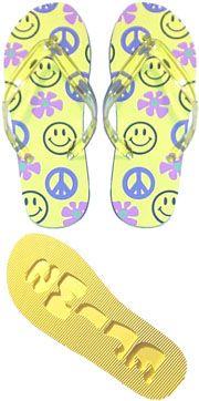 smiley face flip flops