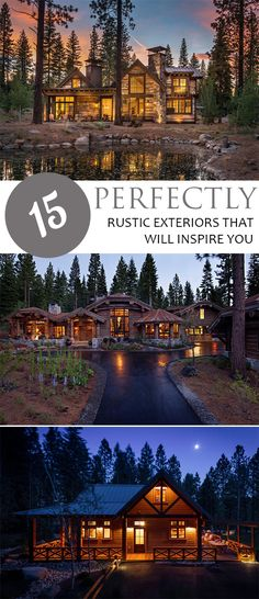 Rustic Exterior, Inspired Exteriors, Rustic Home Exteriors, DIY Home, Popular Pin, Home Improvement, Curb Appeal Projects.