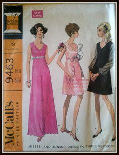 McCalls 9463  Vintage 1960s Dress  Size  12 by ThePatternShopp, $12.00