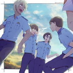 Magic Kaito, Manga Boy, Manga Anime, Anime Art, Detective Conan Shinichi, Kaito Kuroba, Police Story, Kaito Kid, Amuro Tooru