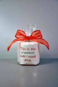 Embroidered Toilet Paper, Crappiest Gift I Could Find, Gag Gift, White Elephant Gift, Dirty Santa, Office Gift by stacey