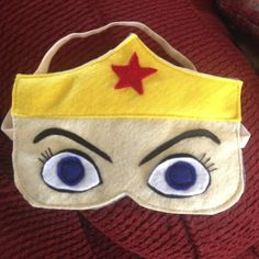 Wonder Woman sleep mask - funny but this one looks too angry Sewing Crafts, Sewing Projects, Fairy Doors, Sleep Mask, Diy Christmas Gifts, Girl Scouts, Crafts To Make, April Vacation, Creepy Eyes