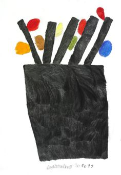 Gunther Schutzenhofer / An Autumn Tree Rhyme And Reason, Coloured Pencils, Visionary Art, Outsider Art, Illustrations, Mark Making, Autumn Trees, Learn To Paint, Elementary Art