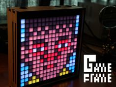 Game Frame is a grid of 256 ultra-bright LED pixels, perfect for showcasing pixel art and old school video game graphics.