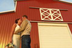 Rustic barn wedding photo