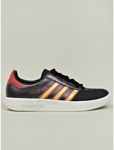 Adidas Originals Mens Black Trimm Trab Sneakers - oki-ni Best Sneakers, Sneakers Fashion, Fashion Shoes, Adidas Sneakers, Mens Fashion, Men's Shoes, Shoe Boots, Shoes Sneakers, Adidas Originals Mens