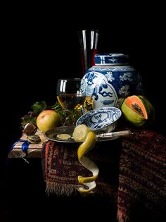 Still Life with Ginger Jar (after Willem Kalf) ~ photographer Kevin Best, a master of photography Dutch Still Life, Still Life Art, Henri Matisse, Pierre Bonnard, Dutch Golden Age, John Singer Sargent, Still Life Photos, Painting Still Life, Chiaroscuro