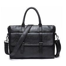 Men's Vintage Leather Handbag Messenger Bags Shoulder Laptop Bag Briefcase