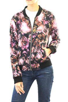 Floral Print Lightweight Bomber Jacket