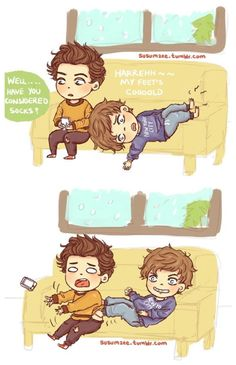 One Direction Cartoons, One Direction Drawings, One Direction Harry Styles, One Direction Memes, One Direction Pictures, Fanfic Larry Stylinson, Sterek Fanart, Louis Tomilson, Louis And Harry