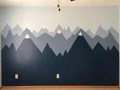 Nursery Mountain Mural by Gena Metz.