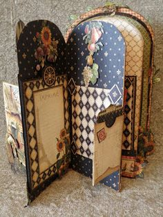 📌 annes papercreations: French country mini album and bird cage.but a lovely tag book. Mini Albums, Mini Scrapbook Albums, Graphic 45, Altered Books, Altered Art, Book Making, Card Making, Mini Album Tutorial, Handmade Books
