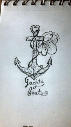 Anchor tattoo with azalea #anchortattoo #anchor #azalea #tattoo