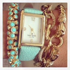 Arm Party!  Love the Kate Spade Watch!  http://www.stelladot.com/ts/uwgn5