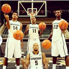 The big 4! Michigan State will play the Ohio State Buckeyes at home tomorrow at 9:00 p.m Who do you think is the best player at Michigan State? Comment below! I think Keith Appling or Payne. #Padgram