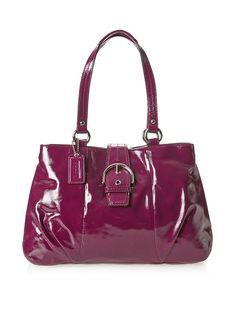 Coach Shoulder Bag, Plum