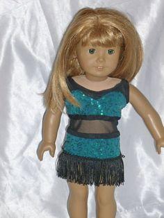Doll+Dance+CostumeTeal+and+Black+Fringe+by+DancinDollsDesigns,+$10.00