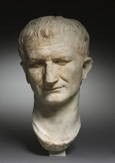 """Portait Head of a Statesman, possibly Vespasian"" (ca. 1st century). Roman, Italy. Posted on clevelandart.org."